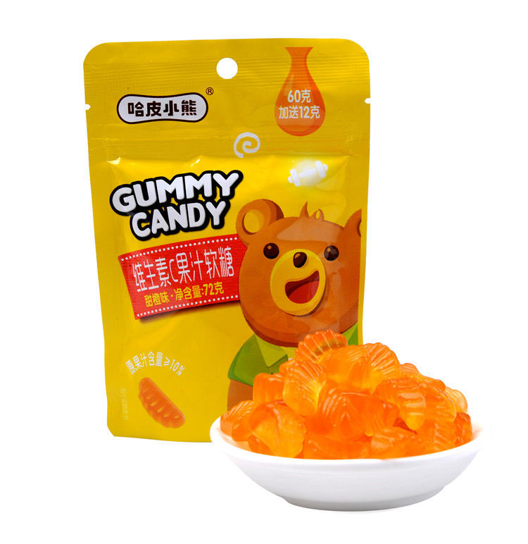 Orange Flavor Vitamin C Fruit Gummy Vitamins Healthy Gummy Fruit Snacks